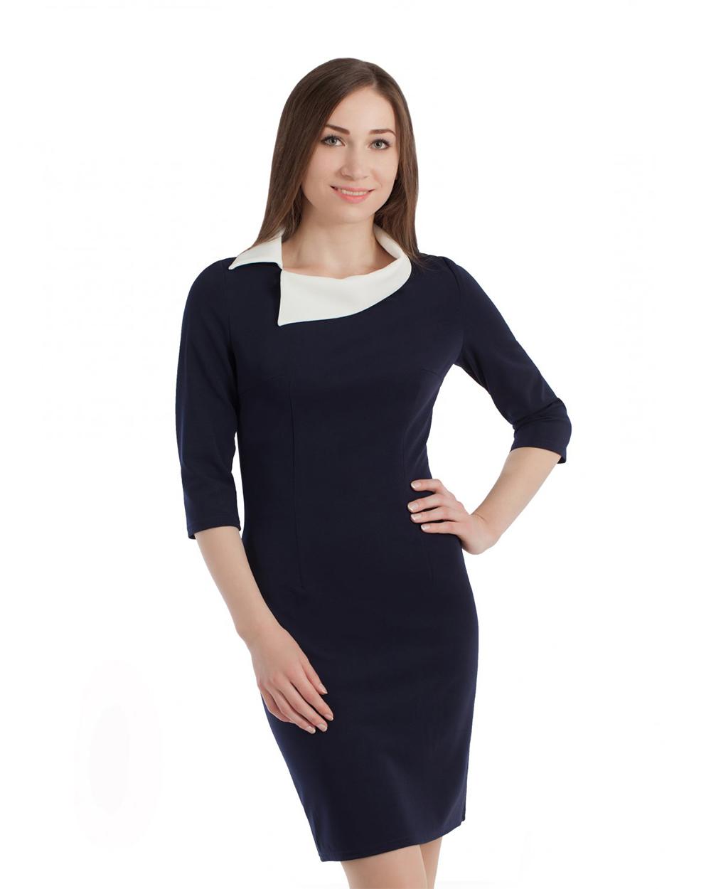 Платье С Воротничком Белым 2021