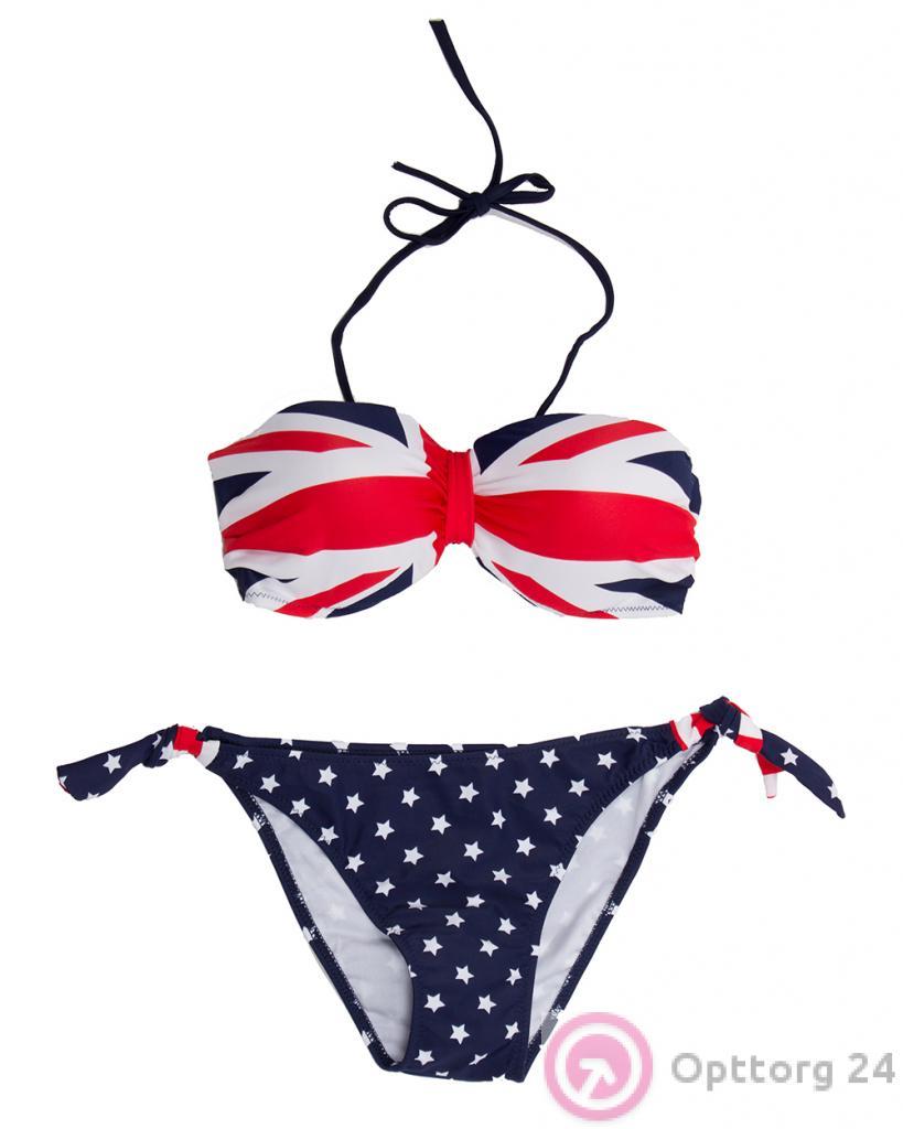 e5450dbd7a084 Купальник женский с британским флагом - купить в Москве оптом ...