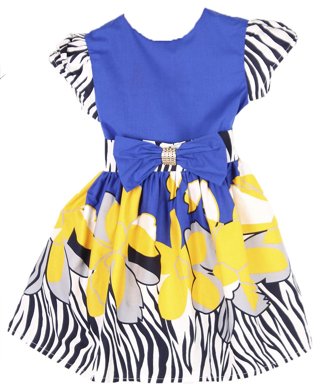 Платье Черное С Синими Цветами