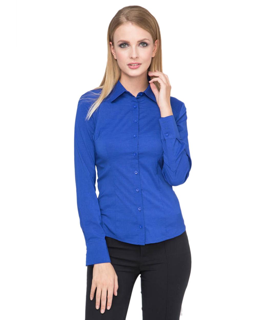 Блузка синяя