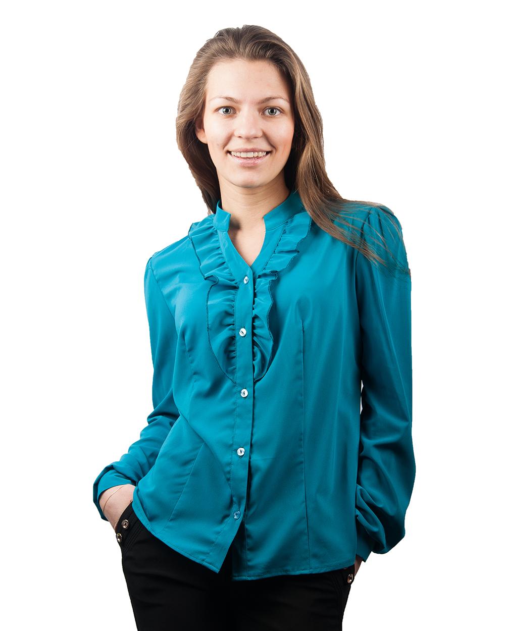 Голубые Блузки Купить