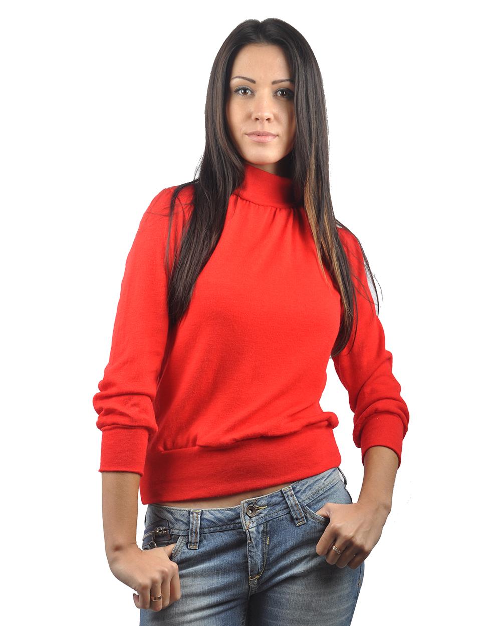 Красный Джемпер Женский