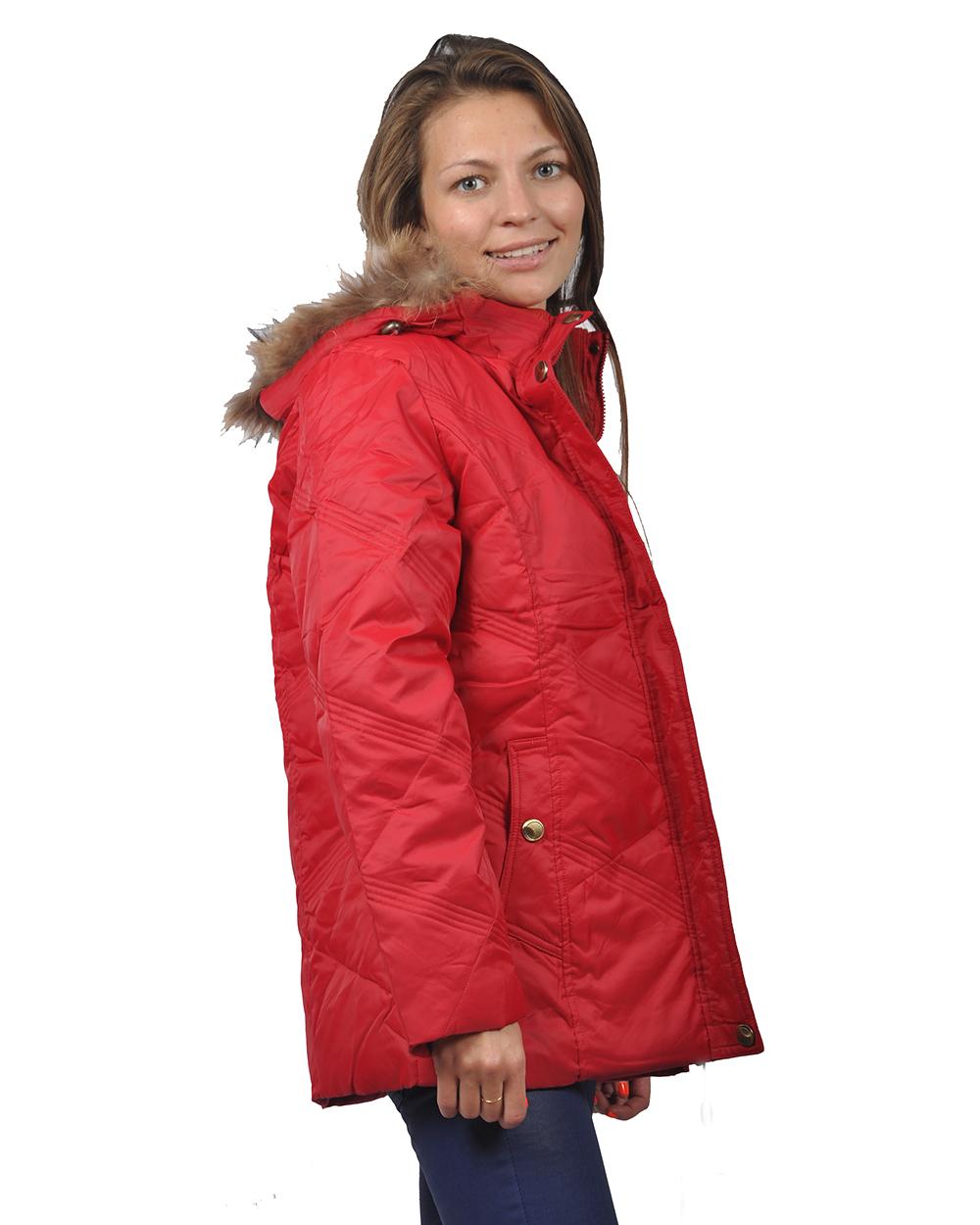 Купить Куртку Зимнюю Красную Женскую