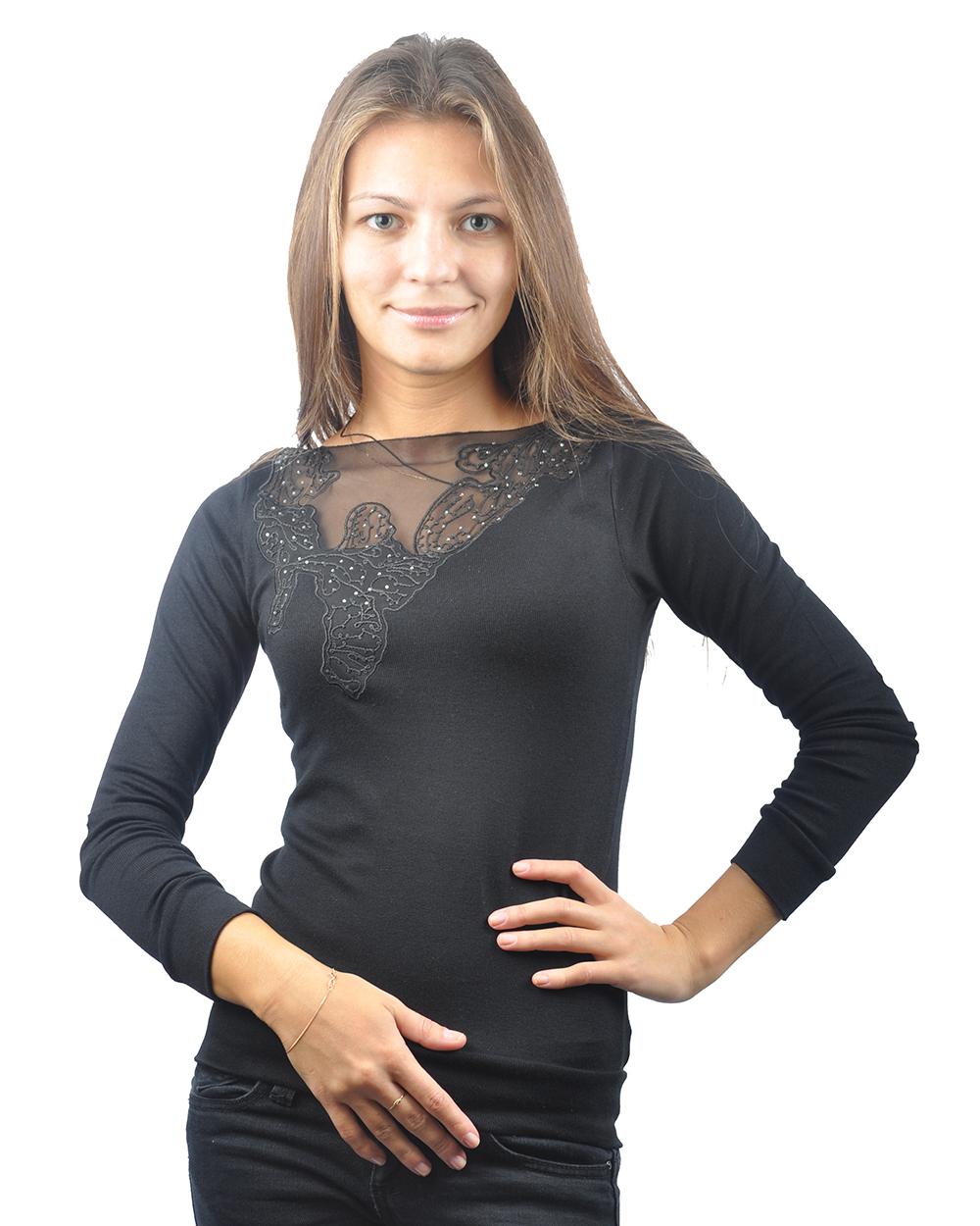 Блузки с кружевными вставками
