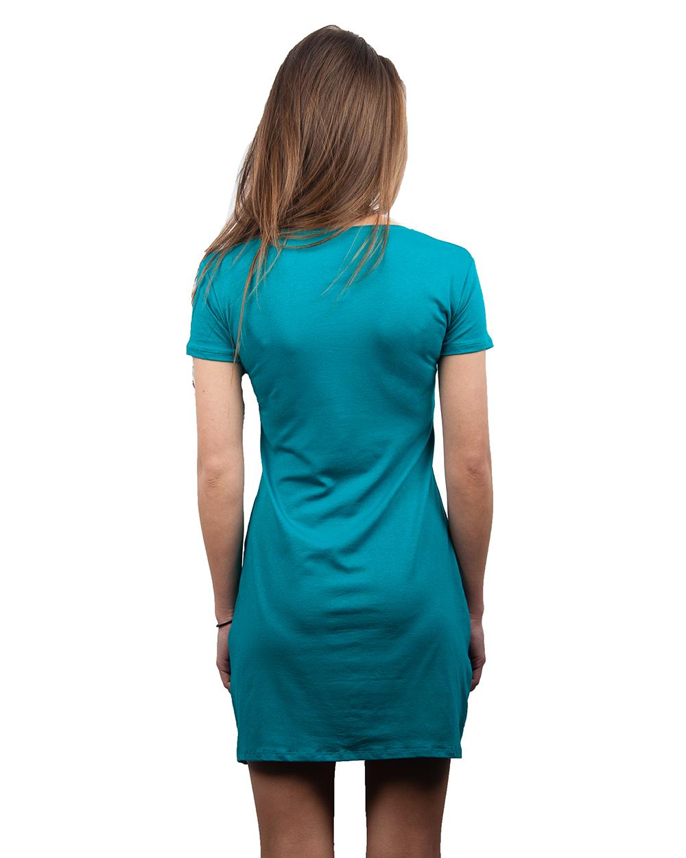 Платье трикотажное простое