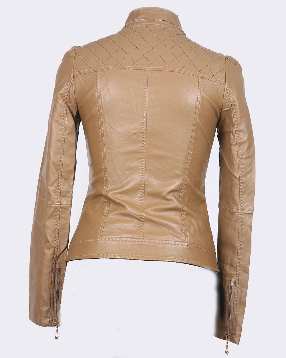 Кофейные Кожаные Куртки