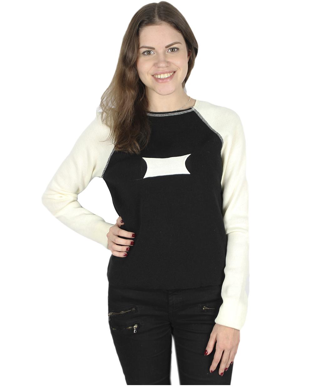Джемперы женские черно белые