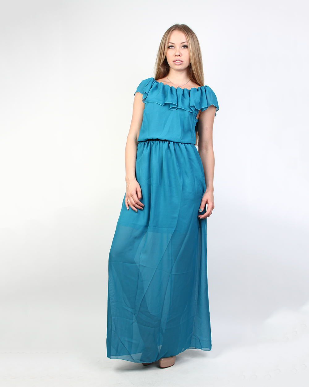 Платье цвета морской волны фото 5