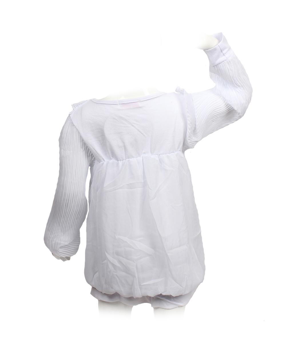 Блузка Для Девочки С Гофрированными Рукавами