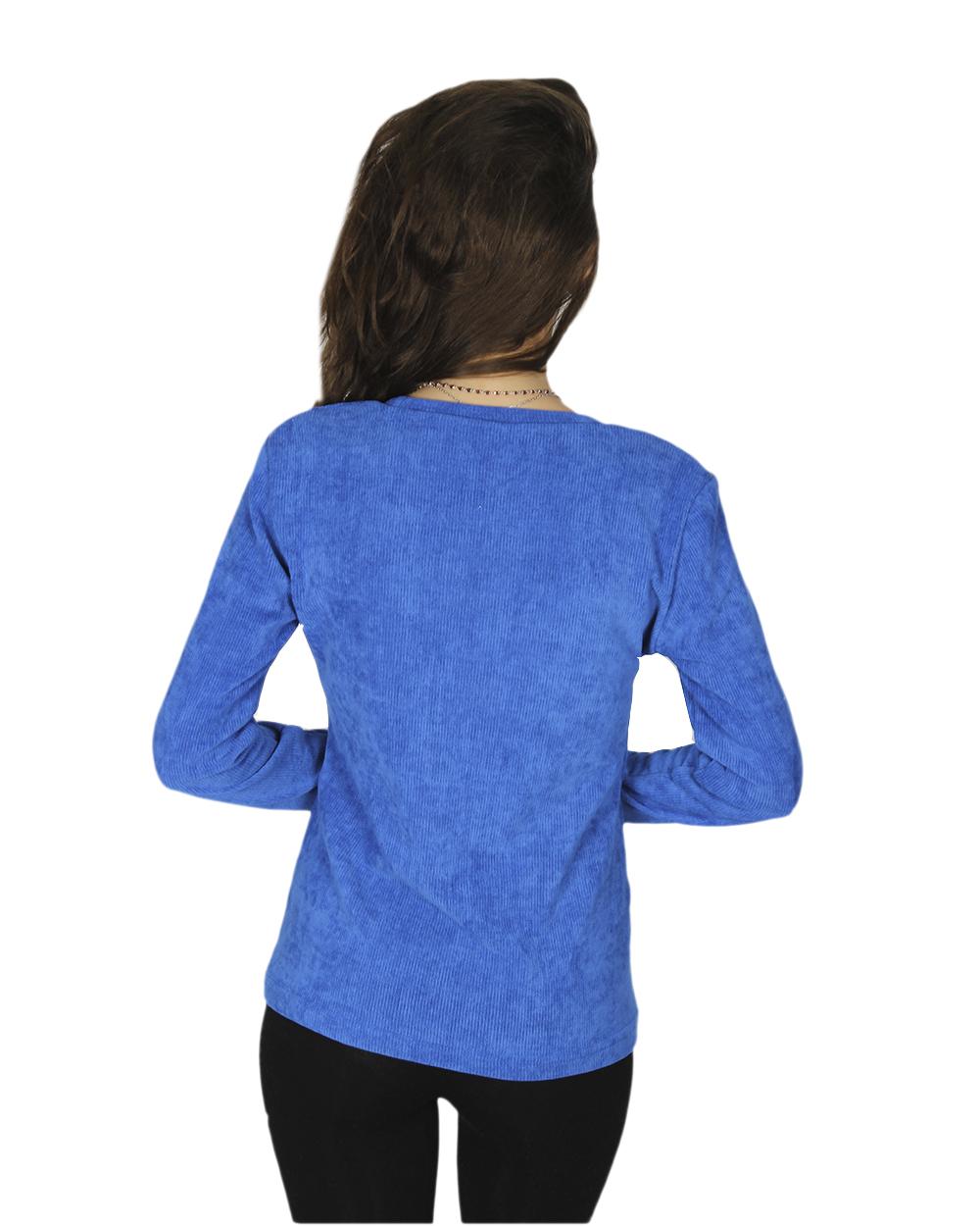 Синий джемпер женский